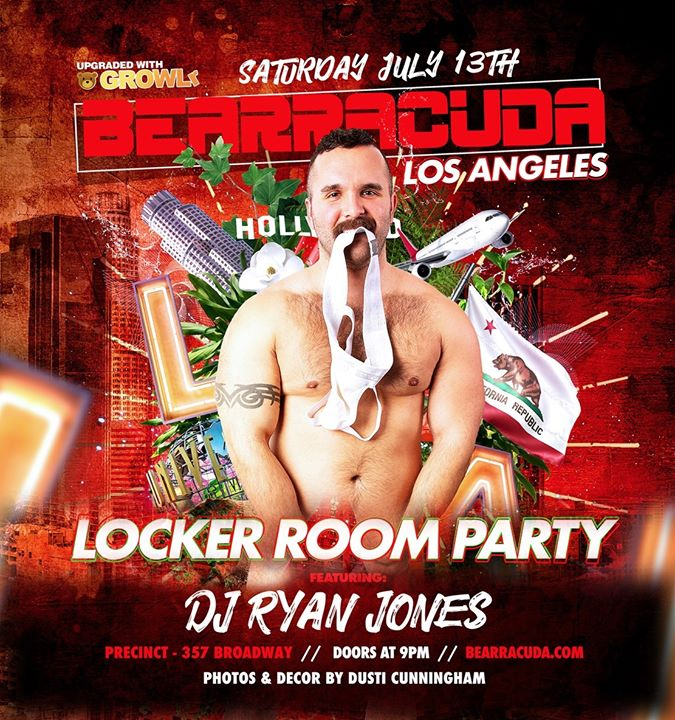 Bearracuda LA: Locker Room Party! Saturday, July 13th! a Los Angeles le sab 13 luglio 2019 21:00-02:00 (Clubbing Gay, Orso)