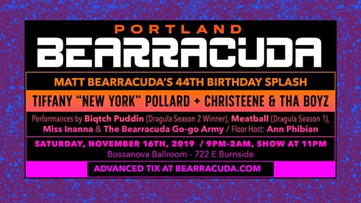 Bearracuda Portland - Matt Bearracuda's Birthday Splash 2019! in Portland le Sat, November 16, 2019 from 09:00 pm to 02:00 am (Clubbing Gay, Bear)