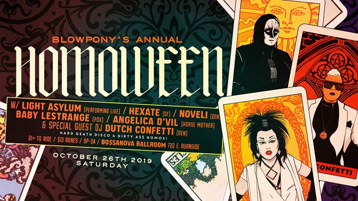 BlowPony's annual HomoWeen 10.26.19 in Portland le Sat, October 26, 2019 from 09:00 pm to 03:00 am (Clubbing Gay)