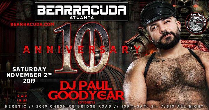 Bearracuda Atlanta: 10 YEAR Anniversary! en Atlanta le sáb  2 de noviembre de 2019 22:00-03:00 (Clubbing Gay, Oso)
