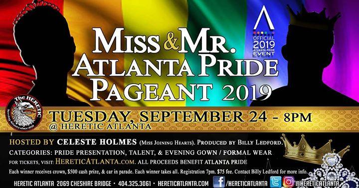 Miss & Mr Atlanta Pride Pageant en Atlanta le mar 24 de septiembre de 2019 20:00-23:30 (Clubbing Gay, Oso)