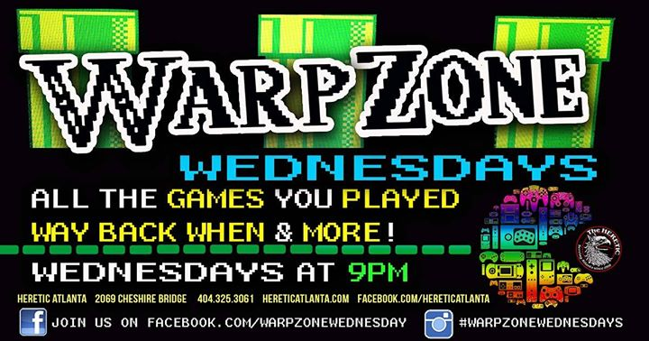 Warp Zone Wednesdays in the Pub! **No Cover!** à Atlanta le mer. 26 juin 2019 de 21h00 à 02h00 (Clubbing Gay, Bear)