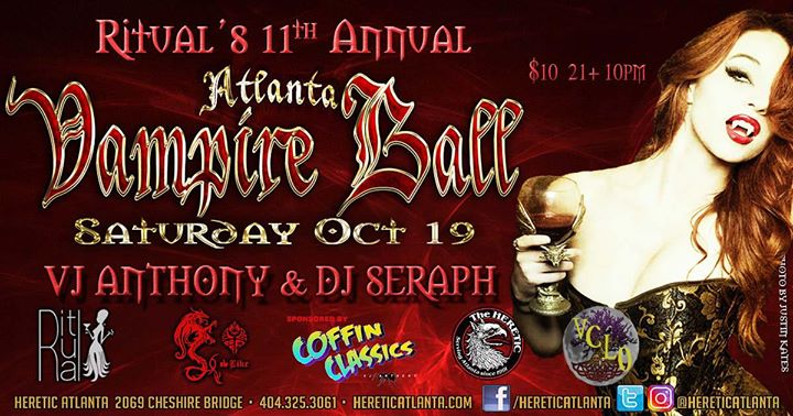 Atlanta Vampire Ball hosted by RITUAL in Atlanta le Sat, October 19, 2019 from 10:00 pm to 03:00 am (Clubbing Gay, Bear)