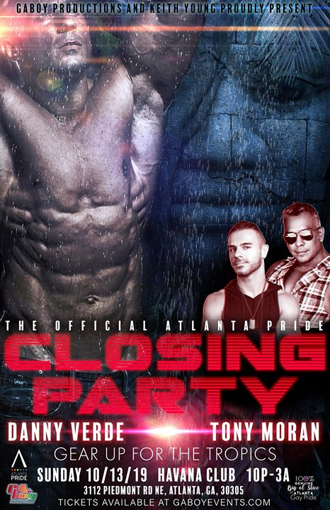 AtlantaATL Pride Closing Party2019年10月13日,22:00(男同性恋, 女同性恋, 变性, 双性恋 俱乐部/夜总会)