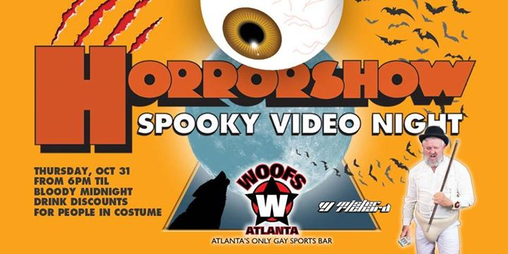 Horrorshow spooky Video Night in Atlanta le Thu, October 31, 2019 from 07:00 pm to 10:00 pm (After-Work Gay, Bear)