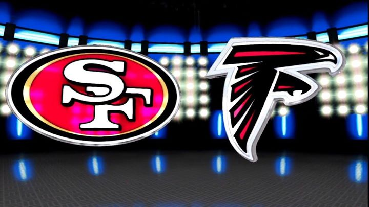 Atlanta Falcons play the San Francisco 49ers in Atlanta le Sun, December 15, 2019 from 04:20 pm to 07:20 pm (After-Work Gay, Bear)