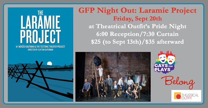GFP Night Out: The Laramie Project en Atlanta le vie 20 de septiembre de 2019 18:00-22:00 (Espectáculo Gay)