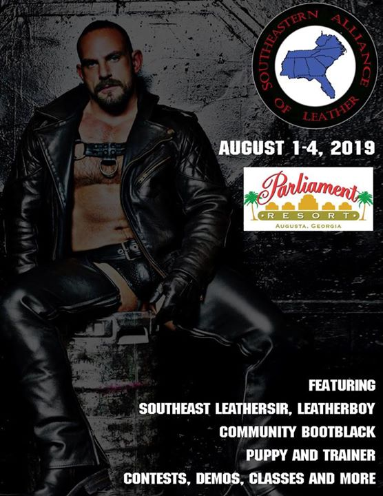 2019 Southeastern Alliance of Leather Weekend en Augusta del  1 al  4 de agosto de 2019 (Festival Gay, Oso)
