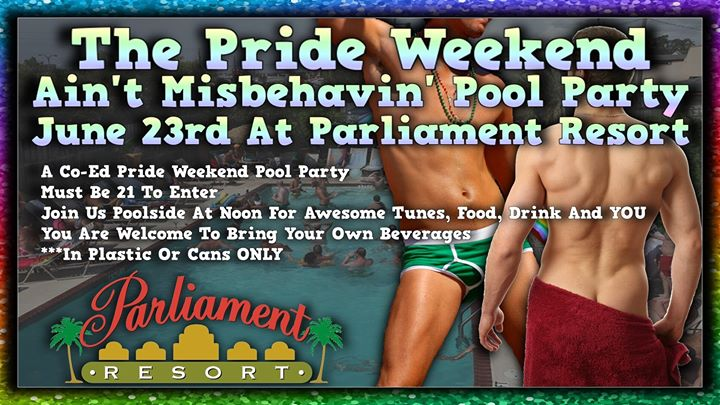 Ain't Misbehavin' Pride Weekend Pool Party a Augusta le dom 23 giugno 2019 12:00-17:00 (Clubbing Gay, Orso)