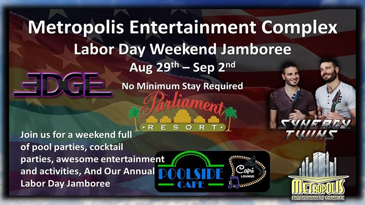 Labor Day Weekend At Metropolis a Augusta dal 29 agosto- 2 settembre 2019 (Festival Gay, Orso)