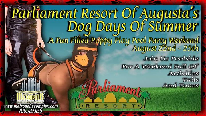 Dog Days Of Summer At Parliament Resort in Augusta von 22 bis 25. August 2019 (Festival Gay, Bear)