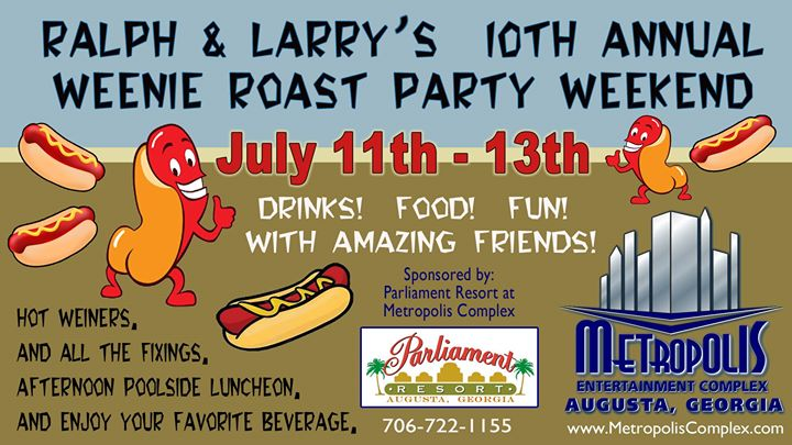 Ralph And Larry's 10th Annual Weenie Roast Weekend en Augusta del 11 al 14 de julio de 2019 (Festival Gay, Oso)