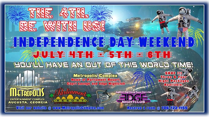 July 4th Weekend At Metropolis en Augusta del  4 al  7 de julio de 2019 (Festival Gay, Oso)