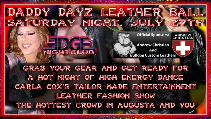 The Daddy Dayz Leather Ball At Edge Nightclub in Augusta le Sa 27. Juli, 2019 21.00 bis 01.30 (Clubbing Gay, Bear)