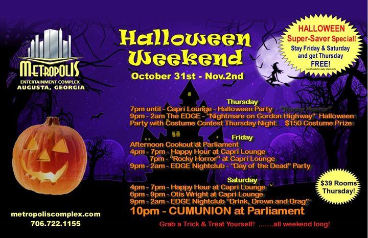 Halloween Weekend At Metropolis en Augusta del 31 de octubre al  3 de noviembre de 2019 (Festival Gay, Oso)