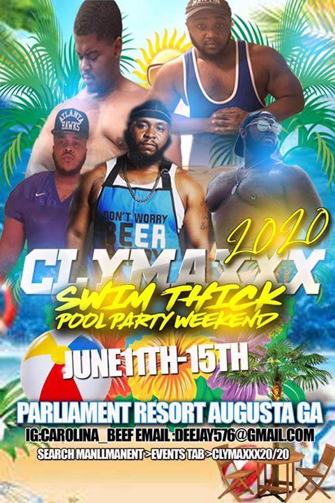Clymaxxx 20/20 en Augusta del 11 al 15 de junio de 2020 (Festival Gay, Oso)