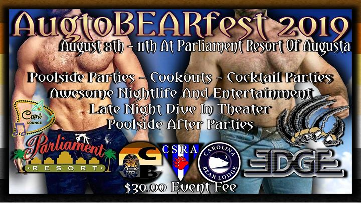 AugtoBEARfest At Parliament Resort in Augusta von  8 bis 11. August 2019 (Festival Gay, Bear)