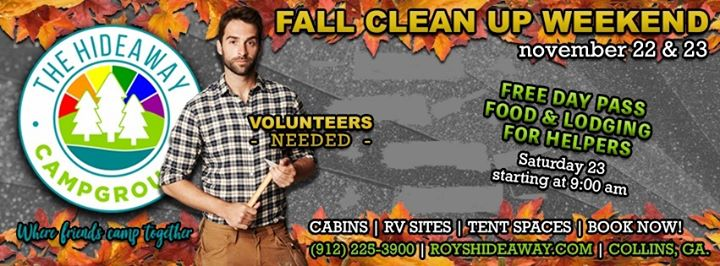 Fall Clean up in Collins from 22 til November 24, 2019 (Clubbing Gay, Bear)