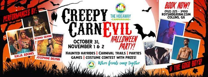 Creepy CarnEvil Halloween in Collins from October 31 til November  3, 2019 (Clubbing Gay, Bear)