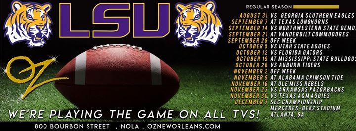 Oz's LSU Tigers Viewing Party en New Orleans le sáb 16 de noviembre de 2019 12:00-14:30 (After-Work Gay)