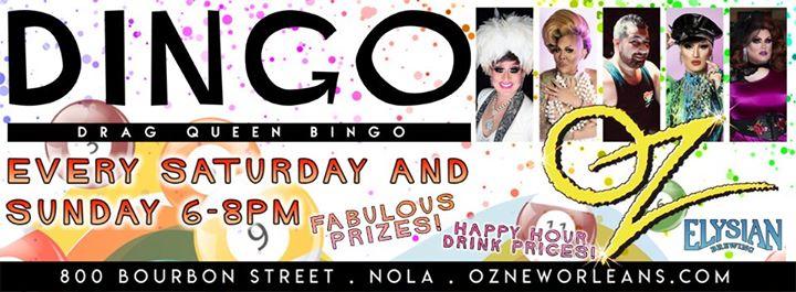 New OrleansSunday Funday BINGO at Oz2020年 6月16日,18:00(男同性恋 下班后的活动)