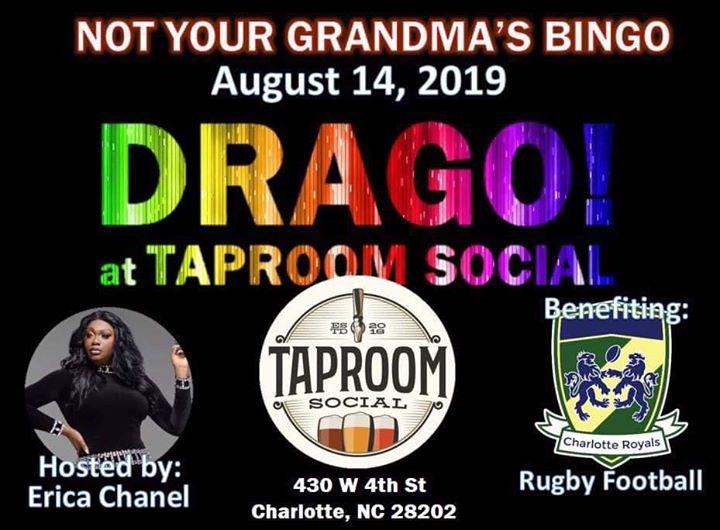 Drago at Taproom Social à Charlotte le mer. 14 août 2019 de 19h00 à 21h00 (After-Work Gay, Hétéro Friendly, Bi)