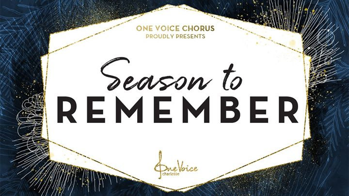 Season to Remember ~ Holiday Concert a Charlotte le sab  7 dicembre 2019 19:30-21:30 (Concerto Gay, Lesbica, Trans, Bi)