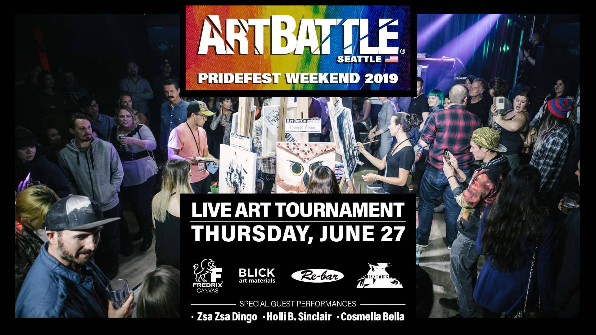 Art Battle Seattle: Pride Edition - June 27, 2019 à Seattle le jeu. 27 juin 2019 de 18h30 à 22h30 (After-Work Gay Friendly)