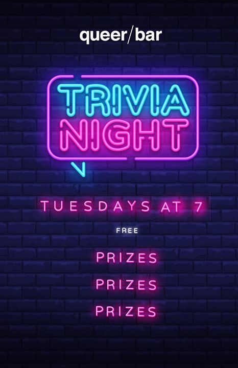 Queer/trivia in Seattle le Tue, August 11, 2020 from 07:00 pm to 09:00 pm (After-Work Gay)