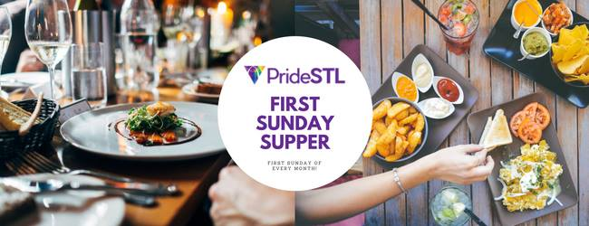 PrideSTL First Sunday Supper in St. Louis le Sun, March  1, 2020 from 01:00 pm to 07:00 pm (After-Work Gay, Lesbian, Trans, Bi)