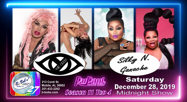Yvie Oddly and Silky N. Ganache at B-Bob's during the holidays! a Mobile le sab 28 dicembre 2019 23:30-02:30 (Clubbing Gay)