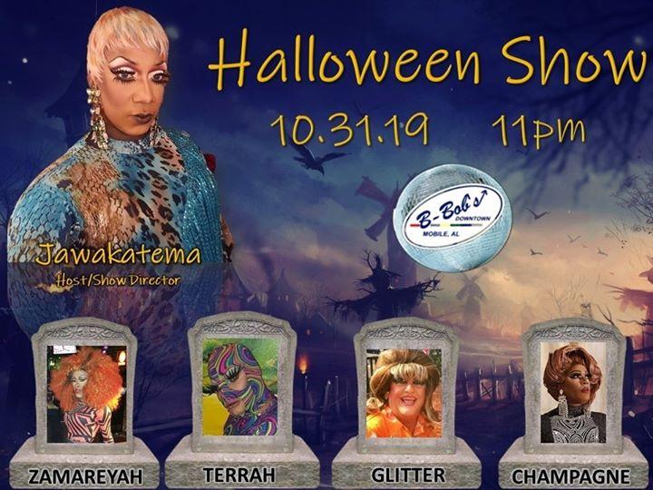 Halloween Night Show at B-Bob's! a Mobile le gio 31 ottobre 2019 22:30-01:30 (Clubbing Gay)