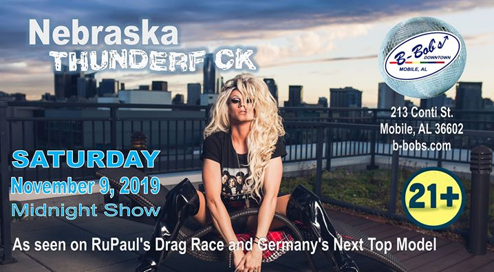Nebraska Thunderf ck returns to B-Bob's a Mobile le sab  9 novembre 2019 23:30-02:30 (Clubbing Gay)