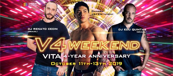 V4 Weekend (VITA 4-Year Anniversary) in Tokyo from 11 til October 13, 2019 (Clubbing Gay, Lesbian, Trans, Bi)
