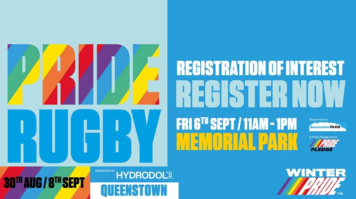 Winter Pride '19 Pride Rugby Tournament in Queenstown le Fri, September  6, 2019 from 11:00 am to 01:00 pm (Festival Gay, Lesbian)