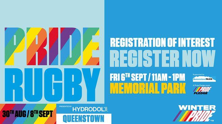 Winter Pride '19 Pride Rugby Tournament en Queenstown le vie  6 de septiembre de 2019 11:00-13:00 (Festival Gay, Lesbiana)