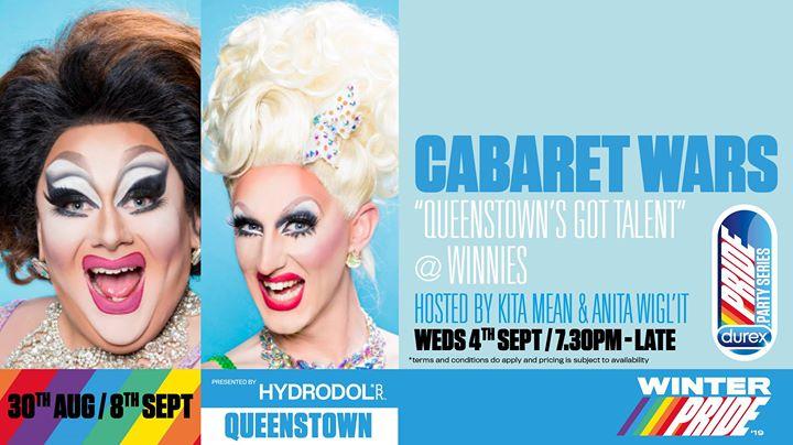 """Cabaret Wars """"Queenstown's Got Talent"""" en Queenstown le mié  4 de septiembre de 2019 19:30-00:01 (After-Work Gay, Lesbiana)"""