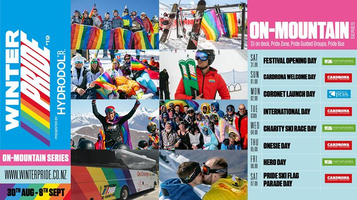 Winter Pride '19 On-Mountain Series in Queenstown from August 31 til September  7, 2019 (Festival Gay, Lesbian)