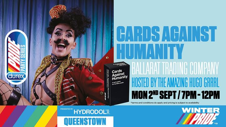 Cards Against Humanity Games Night in Queenstown le Mon, September  2, 2019 from 07:00 pm to 12:01 am (After-Work Gay, Lesbian)
