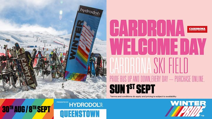 Winter Pride '19 Cardrona Welcome Day in Wanaka le Sun, September  1, 2019 from 09:00 am to 04:00 pm (Festival Gay, Lesbian)