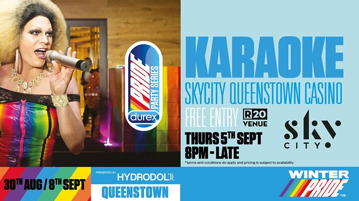 Skycity Karaoke in Queenstown le Thu, September  5, 2019 from 08:00 pm to 01:00 am (After-Work Gay, Lesbian)