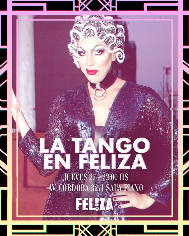 La Tango en Feliza (Sala Piano) à Buenos-Aires le jeu. 27 juin 2019 de 22h00 à 23h00 (After-Work Gay)