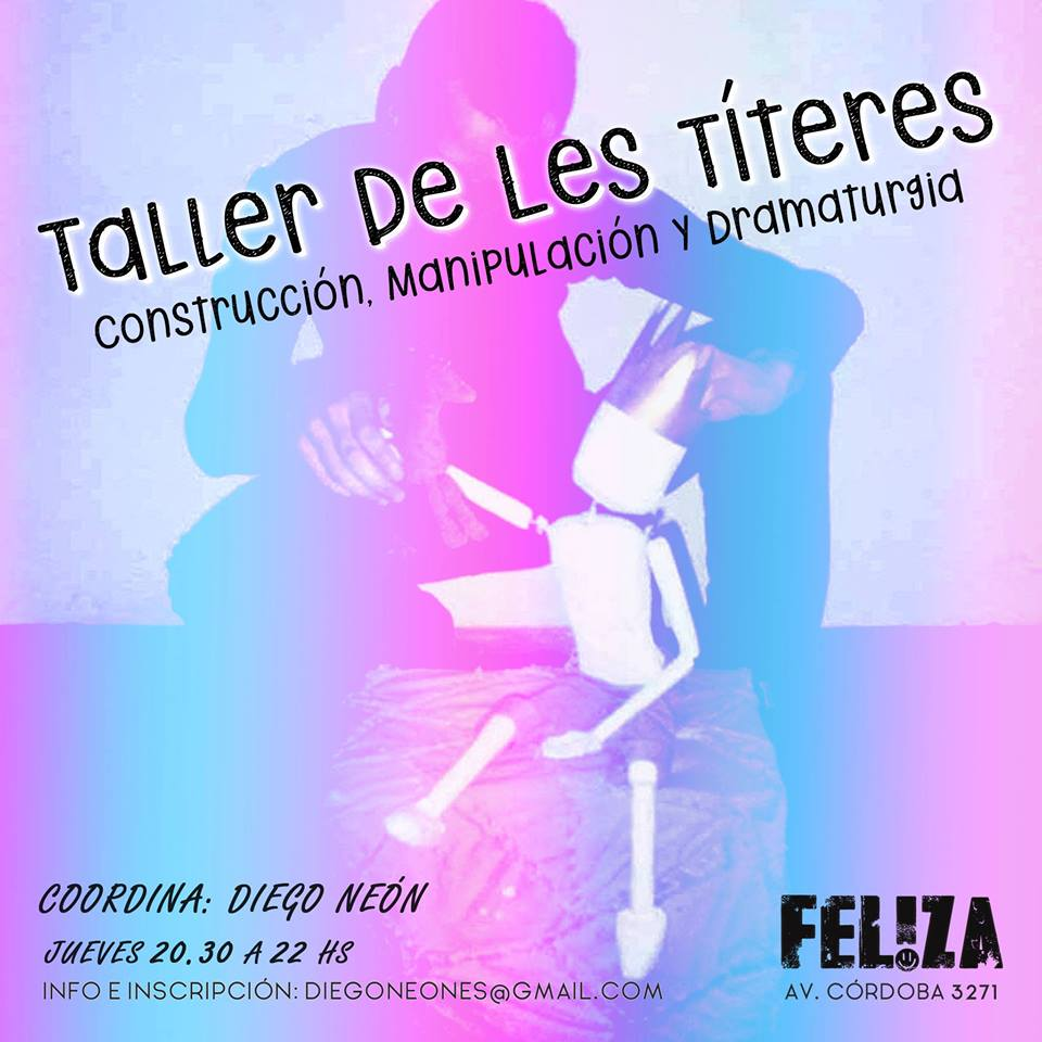 Taller de Les Títeres! in Buenos-Aires le Thu, June 20, 2019 from 08:00 pm to 10:30 pm (Meetings / Discussions Gay)