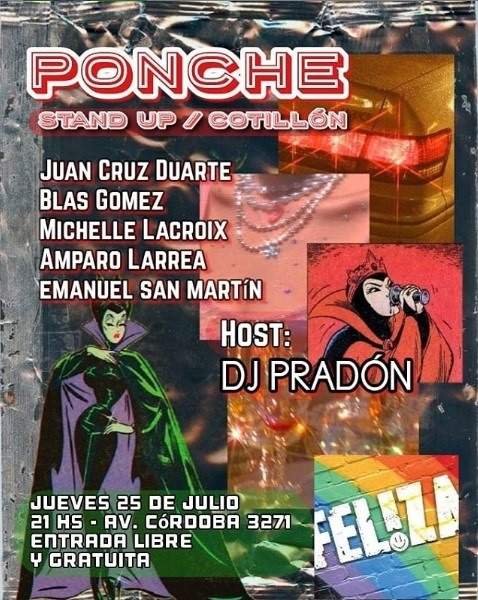 Ponche 25/7 a Buenos Aires le gio 22 agosto 2019 20:30-23:00 (After-work Gay)