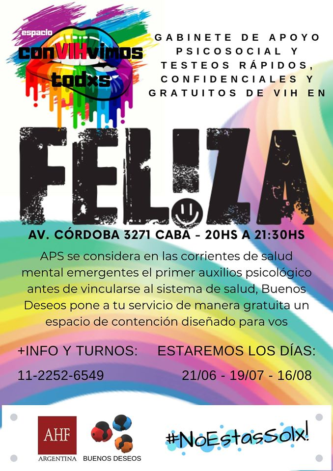Test de VIH y Apoyo Psicosocial in Buenos-Aires le Fri, July 19, 2019 from 08:00 pm to 09:30 pm (Health care Gay)