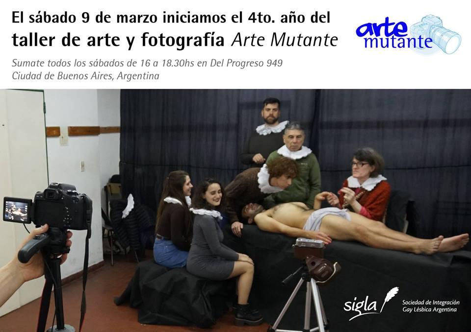 Taller de arte y fotografía Arte Mutante 2019 en Buenos-Aires le sáb 29 de junio de 2019 16:00-18:30 (Curso práctico Gay, Lesbiana, Trans, Bi)