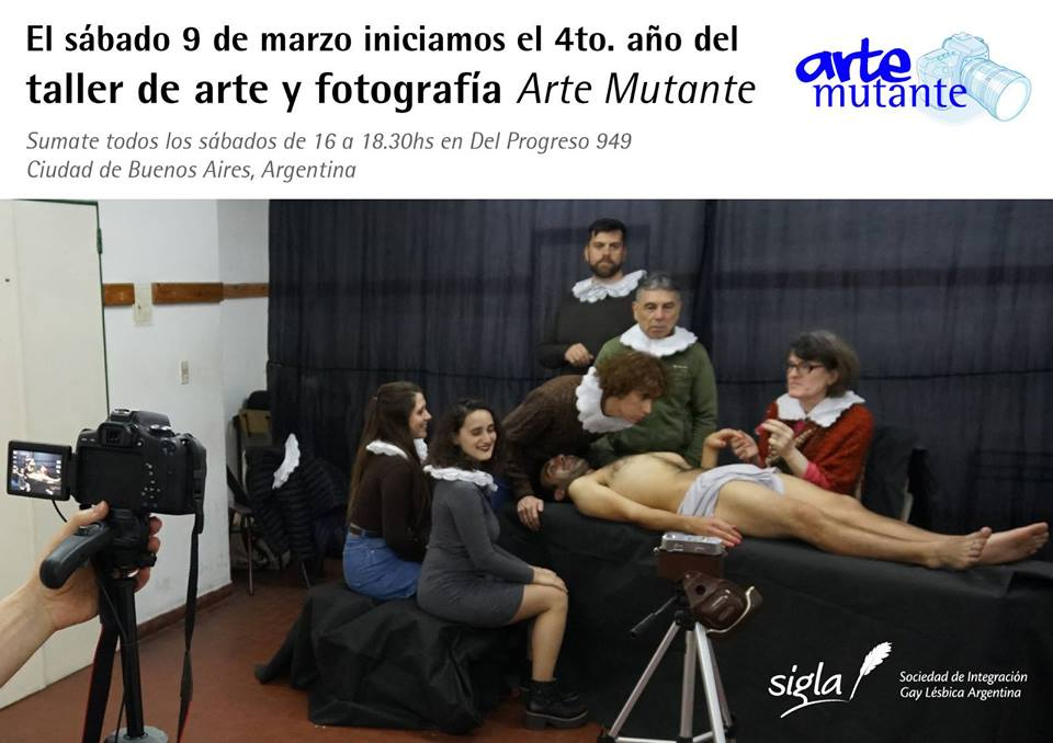 Taller de arte y fotografía Arte Mutante 2019 a Buenos Aires le sab 22 giugno 2019 16:00-18:30 (Laboratorio Gay, Lesbica, Trans, Bi)