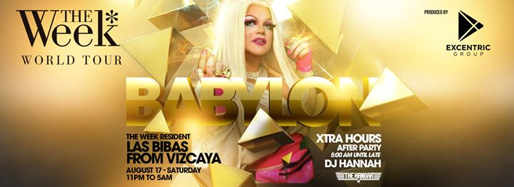 The Week - Babylon in Miami le Sa 17. August, 2019 23.00 bis 10.00 (Clubbing Gay, Lesbierin)