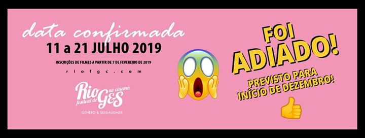Rio Festival de Gênero & Sexualidade no Cinema 2019 em Rio de Janeiro le ter, 16 julho 2019 18:00-22:00 (Cinema Gay, Lesbica, Trans, Bi)
