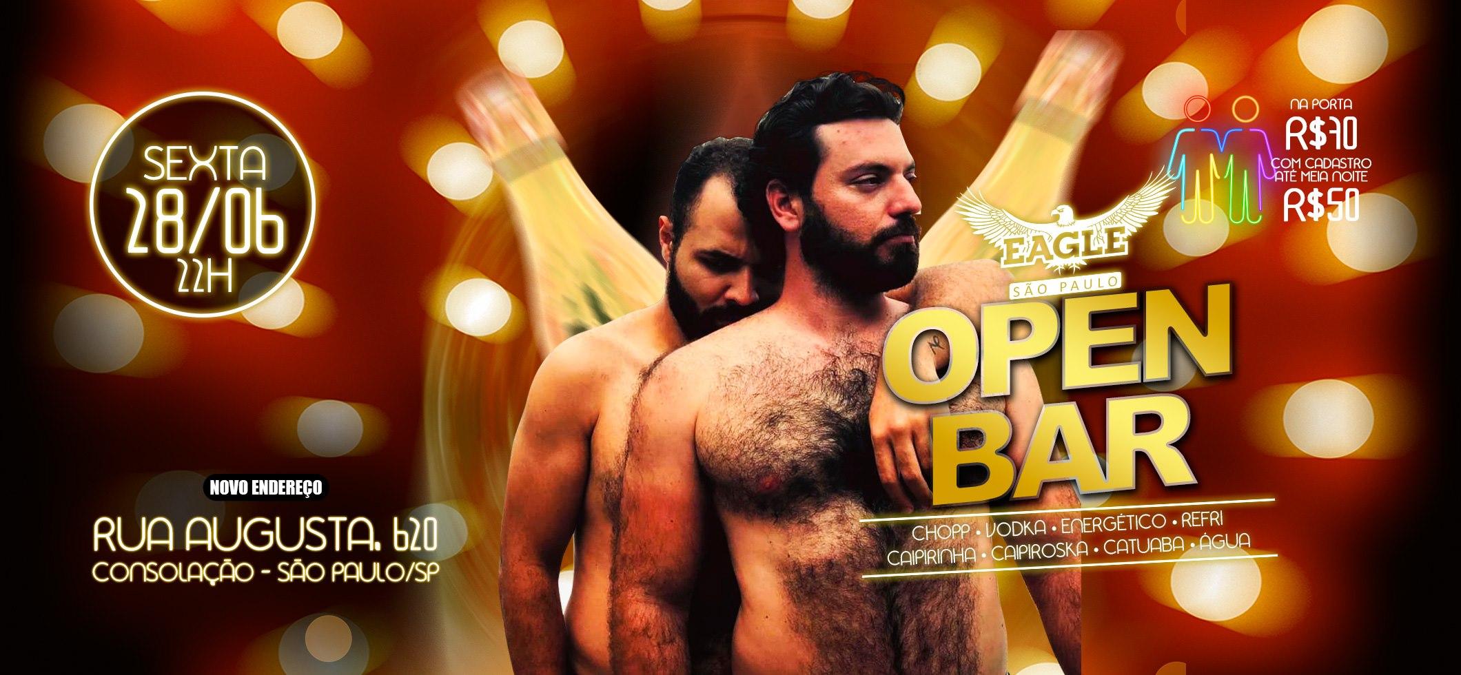 EAGLE OPEN BAR Sex 28 Jun às 22h a São Paulo le ven 28 giugno 2019 22:00-05:00 (Clubbing Gay)